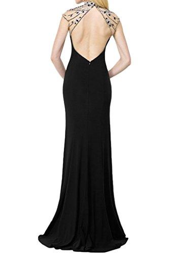 Prom Style Damen elegant Etui Abendkleider Ballkleider Cocktailkleider Chiffon festliches kleider lang Fuchsie