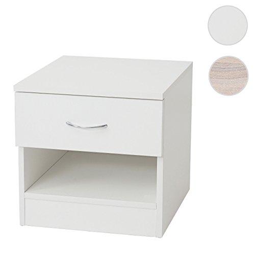 Mendler Kommode Aarhus, Nachtschrank Nachttisch, 1 Schublade 41x40x35cm ~ weiß