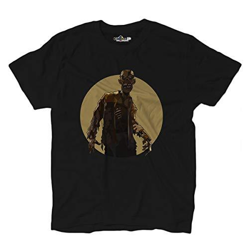 KiarenzaFD Zombie Horror Morti Viventi Dead Mostri Streetwear T-Shirt, KTS02555-XXL-black, schwarz, XXL