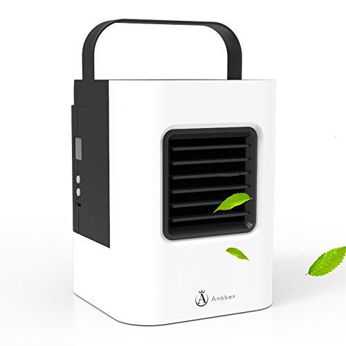 Büro Luftreiniger Ventilator Anbber 4-IN-1 Bürozubehör Befeuchter mit LED Licht, 3 Stufen Windgeschwindigkeit geeignet für Büro, Studierzimmer usw.