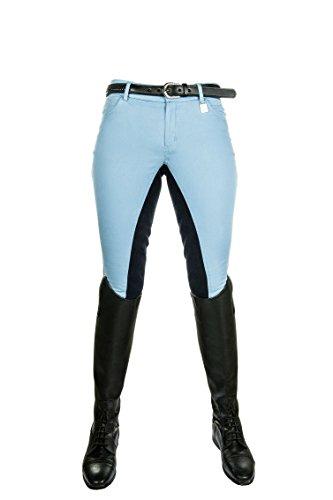 Jeans-Reithose -Girls vs. Boys Uni- 3/4 Besatztürkis134