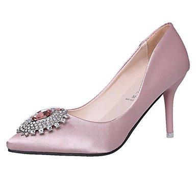 SANMULYH Scarpe Donna Primavera Caduta Della Pompa Base Comfort Tacchi Stiletto Heel Per Casual Rosa Rosso Nero Rosa