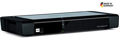 TechniSat Technibox S1+ HD Sat-Receiver (mit Single-Tuner für Empfang in HD, Ethernet, LED-Display, PVR-Aufnahmefunktion und Timeshift, inkl. HD+ Karte)