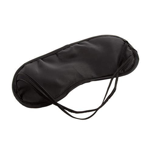 MXECO Augenmaske Bequeme Schlafmaske für Erholung Relax Reisen moderner Männer Frauen Reise Schlafmittel Augenmaske Augenklappe (schwarz)