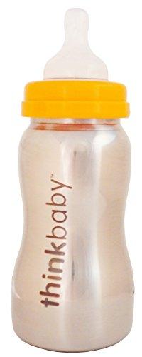 Biberon-en-inox-Bottle-of-Steel-Thinkbaby-Biberon-en-acier-inoxydable-sans-bisphnol-A-BPA-266-ml-9oz-Biberon-premier-ge-0-6-mois-avec-ttine-en-silicone-ventile-garantie-anti-fuite-diminue-les-risques-