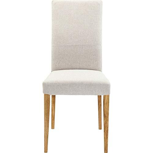 Kare Design Stuhl Mara Samt Taupe Beige 47 100 56 47 x 56 x 100 Stuhl Mara Ecru Teilholz u. MDF -