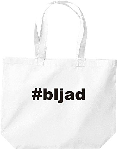 Tote Bag Large Shirtstown, Shopper Hashtag # Bljad White