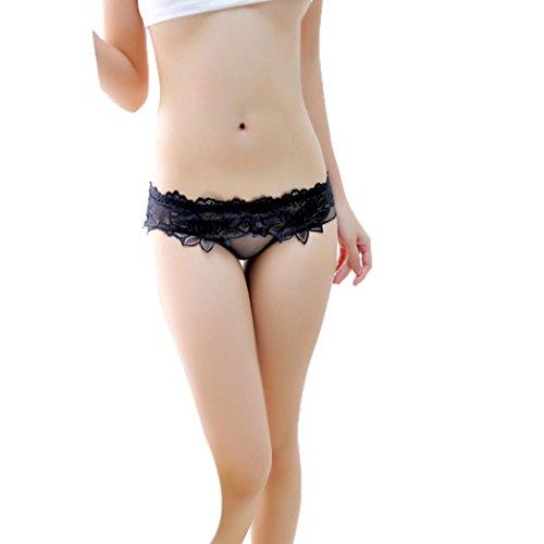 Women Lace Lingerie Briefs Underwear, SOMESUN Lace Sexy Mutandine Respirabile Senza Giunte Panty Hollow Riassume La Biancheria Intima Delle Donne Black