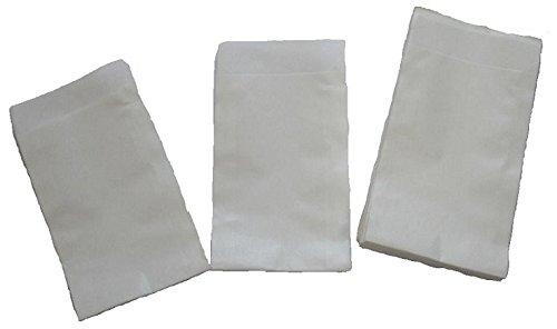 Papiertüten weiß flach 6,5x9cm (500St.) von BLÜHKING®