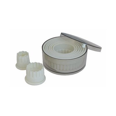 De Buyer 4307.00 Dose Von 9 Ausstechern, Kunststoff, grau, 11,6 x 11,6 x 5,4 cm