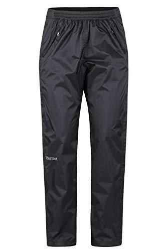Marmot Damen Wm's PreCip Full Zip Pant Hardshell Regenhose, Winddicht, Wasserdicht, Atmungsaktiv, Black, L