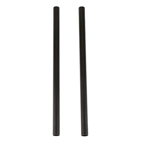 D DOLITY 2Pcs 30cm Länge Aluminiumlegierung Rod für Kamera 15 mm Rod Support System Shoulder Rig - Support Shoulder Rig