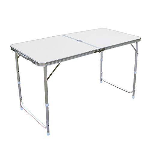 Vimele Table Pliante en Plein air Portable Table Pliante en Aluminium de Pique-Nique Table Pliante en Aluminium (Couleur : Blanc)