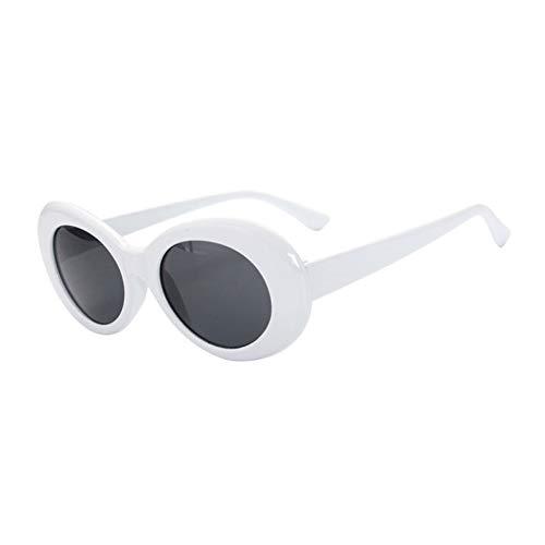 WFOYZNZ Lady Sonnenbrillen Oval Uv400 Sunglasses Women Retro Vintage Round Frame White Men's Sunglasses Red Transparent Glasses