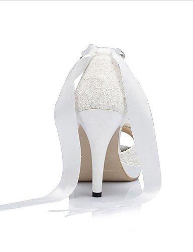 WSS 2016 Chaussures de mariage-Ivoire / Blanc-Mariage / Habillé / Soirée & Evénement-Bout Ouvert / A Plateau-Sandales-Homme 4in-4 3/4in-ivory
