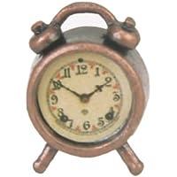1/12 Dollhouse Mínimo Despertador De Metal Antiguo