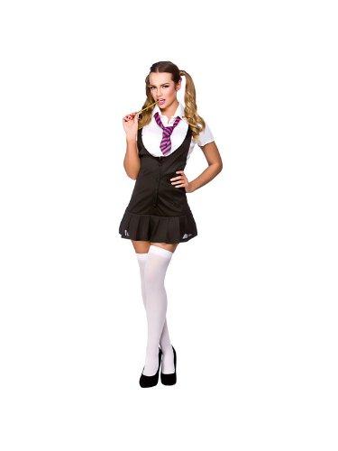 Adult Ladies Naughty Schoolgirl Costume Women Sexy Fancy Dress