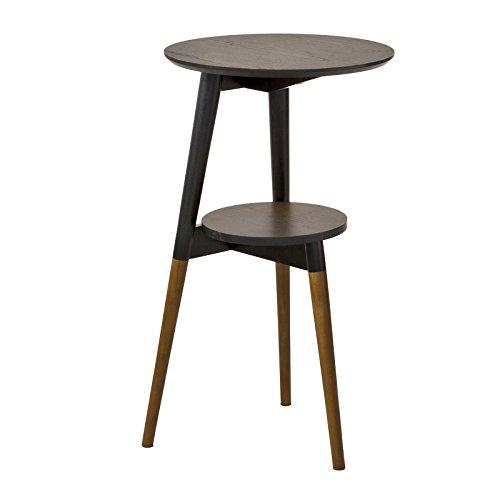 SoBuy Table d'Appoint Design Table Basse Table café Ronde - 2 Plateaux - 3 Pieds FBT39-BR