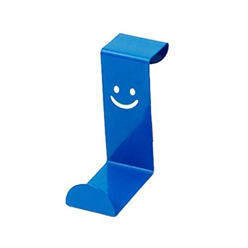 Regan Türhaken mit Smile, praktisch, Edelstahl, für Küchenschränke, Handtuchhalter, 1 Stück, Edelstahl, Blue Smile Z-Haken, 1,8-4 cm, 1