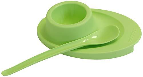 FACKELMANN Eilöffel, Kaviarlöffel aus Kunststoff, Dessertlöffel (Farbe: Transparent oder Weiß - nicht frei wählbar), Menge: 4 Stück