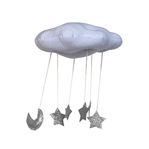 Floralby - Figura decorativa para colgar en la pared, diseño de luna, decoración de la tienda de campaña para niños