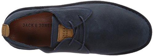 JACK & JONES JJDaran Leather Shoe Navy Blazer Herren Derby Schnürhalbschuhe Blau (Navy Blazer)