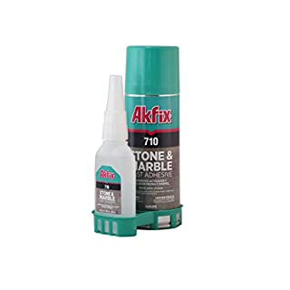 Akfix AS1322 710 Stone and Marble Fast Adhesive (1.76 oz.) with Activator (6.76 fl. oz.) Kit, Clear by Akfix
