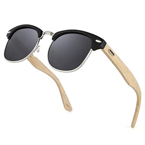TIJN Gestell Halbrahmen Polarisierte Sonnenbrillen semi-randlosen Halbrahmen für Sport fahren Angeln Skifahren Herren Damen