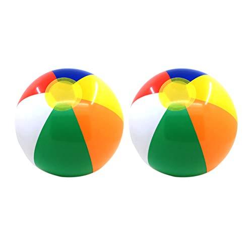 BESPORTBLE 2 STÜCKE Aufblasbare Strand Wasser Bälle Lustige Outdoor Sport Spielzeug für Kind Kind Baby
