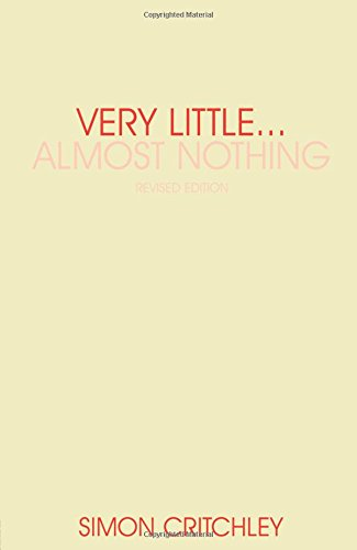 Very Little ... Almost Nothing: Death, Philosophy and Literature (Warwick Studies in European Philosophy)