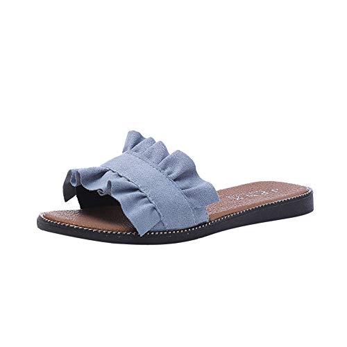 Vendita calda!,sandali da donna,styledresser estate sandali mare scarpe da spiaggia sportivi antiscivolo colore puro ciabatte slippers classic arizona estivi sandali piatti con fiocco color puro per (38, blu-2)