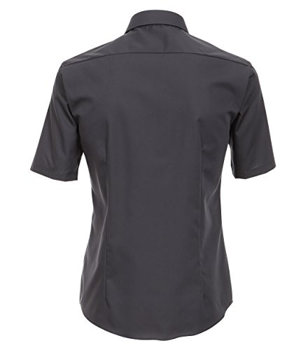 Venti - Slim Fit - Bügelfreies Herren Kurzarm Hemd in diversen Farben (001620) Grau (75)