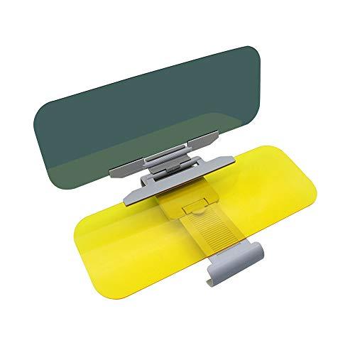 Auto Tag und Nacht Anti-Glare Visier-2 in 1 Auto Sun Anti-UV-Block Visier Non Glare-Anti-Dazzle Sonnenschutz Spiegelschild für Schutzbrillen