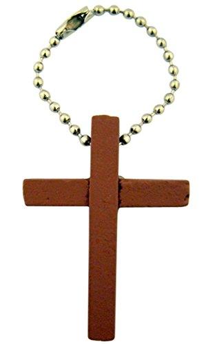 Holz einfach Latin Kreuz auf Pop Bead Schlüsselanhänger, 31/10,2cm