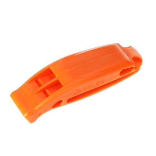 Aexu extérieur de survie double fréquence d'urgence Sifflet de sécurité Sifflet (Orange)
