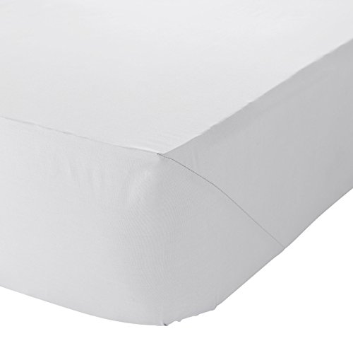 Catherine Lansfield Non Iron Percale Polycotton Double Fitted Sheet White