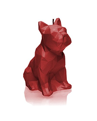 Candellana Candellana Kerze Bulldogge, rot, groß (Ideen Rot Herzstück)