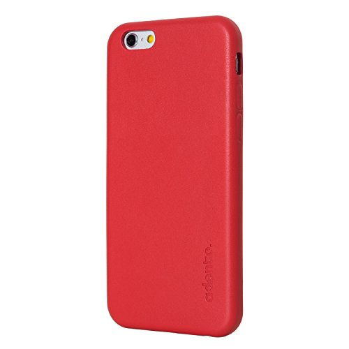 Adento - Custodia per iPhone 6, marrone, for iPhone 6 (Wallet Case) Rot