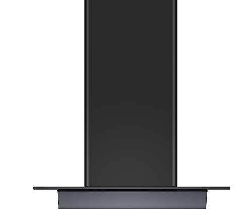 317dCsDL7XL - Cookology FLID900BK 90cm Island Chimney Cooker Hood in Black | Extractor Fan