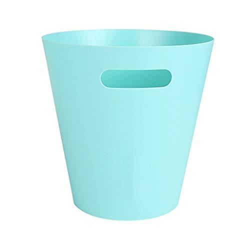 Ljt Kunststoffkorb mit Griffen, schlanker Bürobehälter aus strapazierfähigem Kunststoff, praktische Aufbewahrungsbox für Bad, Küche oder Pantry (Color : B) -