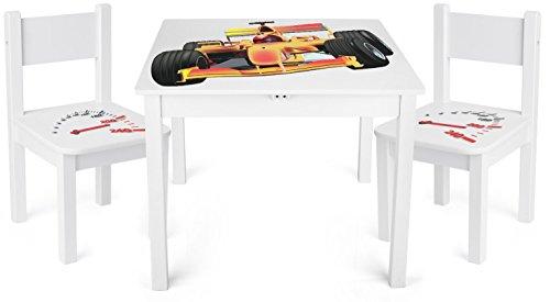 Tavolino Set Da Cameretta Per Bambini Tavolo e 2 Sedie In Legno ...