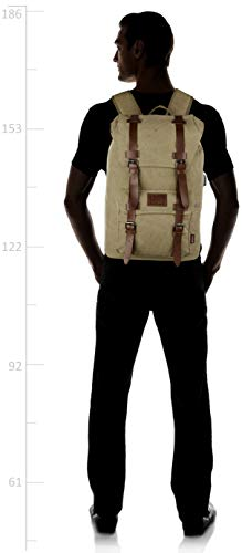 Best canvas backpack in India 2020 F Gear Colossal 22 Ltrs Khaki Canvas Backpack Image 7