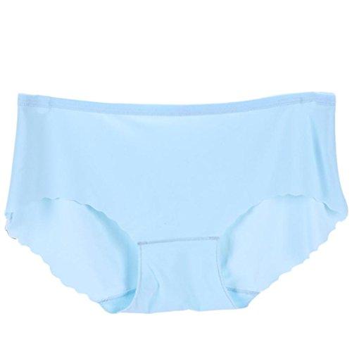 Unterwäsche Dessous lingerie Damen,Yanhoo Heiße Mode Frauen weiche Unterhose nahtlose Wäsche Schriftsatz Hipster Unterwäsche Schlüpfer (Blau, Freie Größe) (Weiche Super Hipster)
