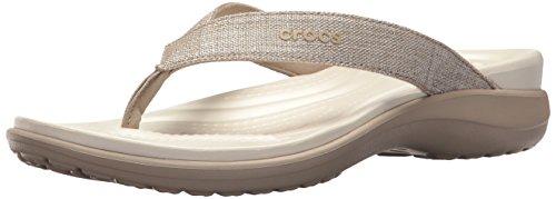 crocs Capri V Shimmer Flip W - 5 - Crocs-damen Capri