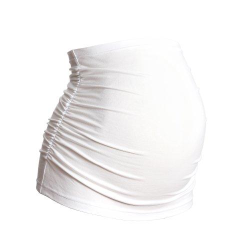 Ceinture de Grossesse / Bandeau de Grossesse – Ruché – Coton – Différentes couleurs - Tailles (EUR) 36 à 56 Blanc