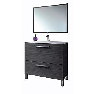 317dNQkZDoL. SS324  - HABITMOBEL Mueble Baño con Espejo y Lavabo Cerámica