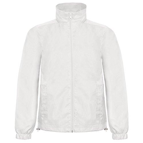 B&C Collection Herren Modern Jacke Weiß