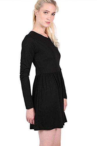 PILOT® tia manches longues robe de patineuse de coupe ample Noir