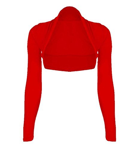 Generic -  Coprispalle  - Basic - Aperto  - Lunga - Donna Red