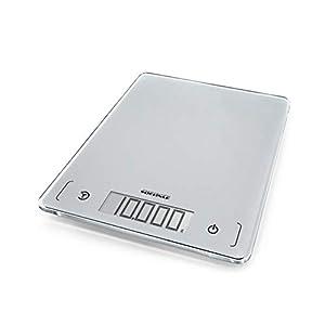 Soehnle Page Comfort 300 slim Digitale Küchenwaage, Gewicht bis zu 10 kg (1-g-genau), rechteckige Haushaltswaage mit Sensor-Touch, elektronische Waage inkl. Batterien, ultraflaches Design, silber